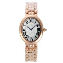 Cartier Baignoire Volle Rose Gold Mit White Dial-Roman Markers