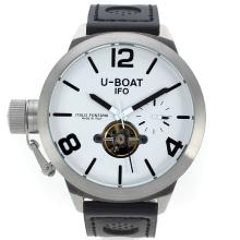 U-Boat Italo Fontana Tourbillon Automatic Mit White Dial-Leather Strap