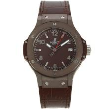 Hublot Big Bang Coffee Gehäuse Mit Brown Dial-Silver Stick / Anzahl Marker