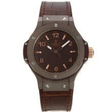 Hublot Big Bang Coffee Gehäuse Mit Brown Dial-Rose Gold Stick / Anzahl Marker