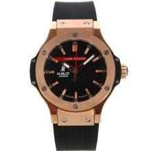 Hublot Big Bang Luna Rossa Rose Gold Case Mit Black Carbon Fibre Style-Dial-Rubber Strap