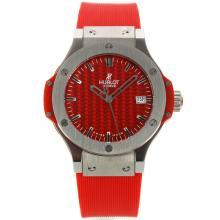 Hublot Big Bang Mit Red Carbon Fibre Style-Dial-Rubber Strap