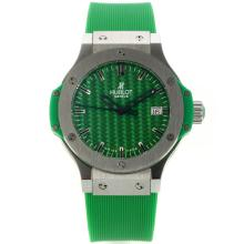 Hublot Big Bang Mit Green Carbon Fibre Style-Dial-Rubber Strap