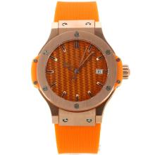 Hublot Big Bang Rotgold Mit Orange Carbon Fibre Style-Dial-Rubber Strap