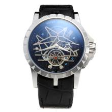 Roger Dubuis Excalibur Tourbillon Automatic with Black Dial-Leather Strap