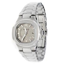 Patek Philippe Nautilus with Gray Dial S/S-Lady Size