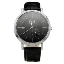 Piaget Altiplano Automatic with Black Dial-Leather Strap