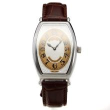 Patek Philippe Gondolo White Dial with Leather Strap-Lady Size-1