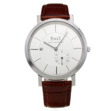 Piaget Altiplano Automatic with White Dial-Leather Strap