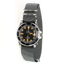 Rolex Submariner Automatic Black Dial with Gray Nylon Strap-Vintage Edition