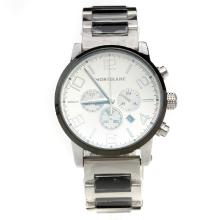 Montblanc Time Walker Working Chronograph with White Dial-Ceramic Strap