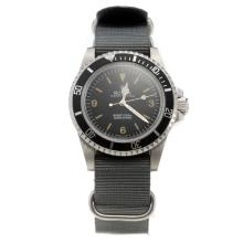 Rolex Submariner Automatic with Black Dial-Nylon Strap-2