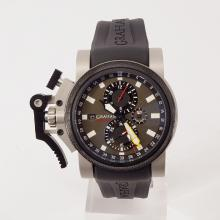 Graham Chronofighter Working Chronograph with White Dial-Rubber Strap