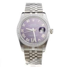 Rolex Datejust Automatic With Diamond Bezel and Blue Dial-Same Chassis As Swiss Version