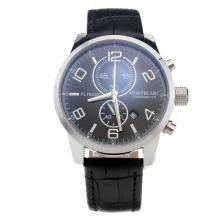 Montblanc Time Walker Working Chronograph With Black Dial