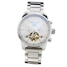 Montblanc Time Walker Automatic With White Checkered Dial S/S