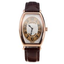 Patek Philippe Gondolo Rose Gold Case White Dial with Leather Strap-Lady Size-1