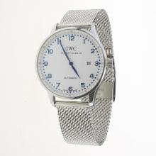IWC Portuguese Automatic Blue Markers with White Dial S/S