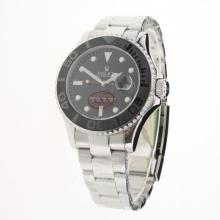 Rolex Yachtmaster Automatic Ceramic Bezel with Black Dial S/S