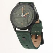 IWC Pilot PVD Case Green Dial with Green Leather Strap