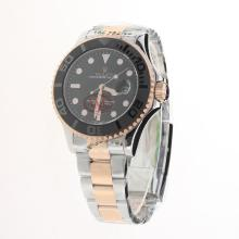 Rolex Yachtmaster Automatic Two Tone Ceramic Bezel with Black Dial
