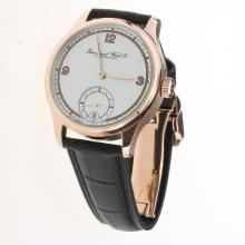 IWC Portuguese Manual Winding Rose Gold Case with White Dial-Leather Strap-3
