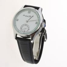 IWC Portuguese Manual Winding with White Dial-Leather Strap-5