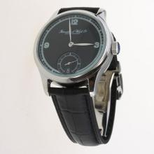 IWC Portuguese Manual Winding with Black Dial-Leather Strap-4
