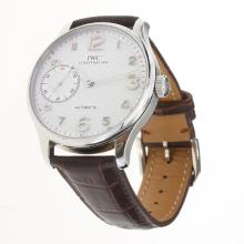 IWC Portuguese Manual Winding with White Dial-Leather Strap-4