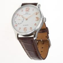 IWC Portuguese Manual Winding with White Dial-Leather Strap-3