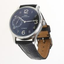 IWC Portuguese Manual Winding with Black Dial-Leather Strap-3