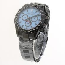 Rolex Daytona II Automatic Full PVD Ceramic Bezel Stick Markers with Blue Dial