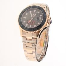 Rolex Yachtmaster Automatic Full Rose Gold Ceramic Bezel with Brown Dial