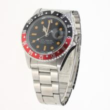 Rolex GMT Master Vintage Edition Automatic with Black Dial S/S-Same Chassis as ETA Version