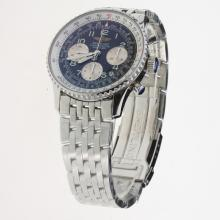 Breitling Navitimer Chronograph Swiss Valjoux 7750 Movement Number Markers with Black Dial S/S