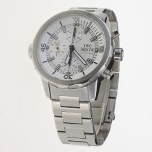 IWC Aquatimer Chronograph Swiss Valjoux 7750 Movement with White Dial S/S