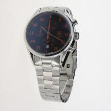 Tag Heuer Working Chronograph Red Markers with Black Dial S/S