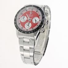 Rolex Daytona Working Chronograph with Red Dial S/S-Vintage Edition-2