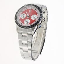 Rolex Daytona Working Chronograph with Red Dial S/S-Vintage Edition