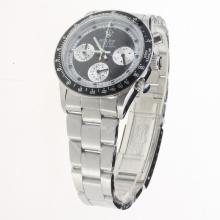 Rolex Daytona Working Chronograph with Black Dial S/S-Vintage Edition-4