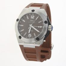 IWC InGenieur Working GMT Automatic with Brown Dial-Rubber Strap