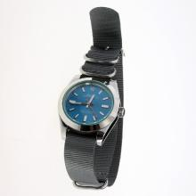 Rolex Milgauss Automatic with Blue Dial-Nylon Strap