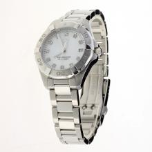 Tag Heuer Aquaracer Swiss ETA Movement Diamond Markers with MOP Dial S/S-Lady Size(Gift Box is Included)