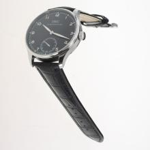 IWC Portuguese Manual Winding with Black Dial-Leather Strap