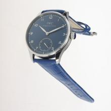IWC Portuguese Manual Winding with Blue Dial-Leather Strap