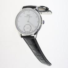 IWC Portuguese Manual Winding with White Dial-Leather Strap