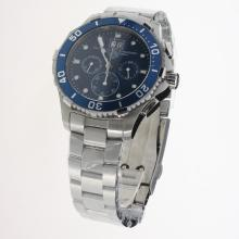 Tag Heuer Aquaracer Big Date Working Chronograph with Blue Dial S/S