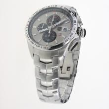 Tag Heuer Carrera Calibre 16 Working Chronograph with Gray Dial S/S