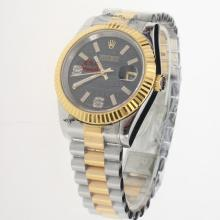 Rolex Datejust Automatic Two Tone with Ianthinus Dial