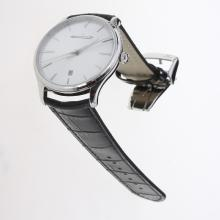Jaeger-Lecoultre Master Control MIYOTA 9015 Automatic with Silver Dial-Leather Strap